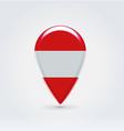 Austrian icon point for map vector image