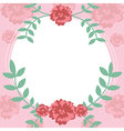 Flower and leaf frame background vector image