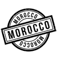 Morocco rubber stamp vector image