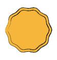 blank guarantee certificate label badge icon vector image