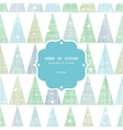 abstract christmas trees forest in snow frame vector image