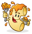 Macaroni and Cheese Cartoon Character vector image