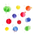 Colorful watercolor splashes vector image