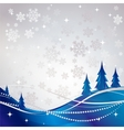 Silver winter abstract background vector image