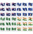 Anguilla Kosovo Norfolk Island India Set of 36 vector image