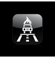 car burning icon vector image vector image