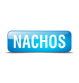 nachos blue square 3d realistic isolated web vector image