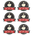 Buy 1 Get 1 Free retro grunge badges set vector image vector image