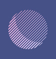 abstract striped round shape in retro style vector image