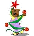 Bear dancing 23 vector image