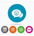 Chat Smile icon Happy face symbol vector image