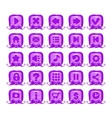 Cute cartoon violet buttons set vector image