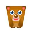 cute friendly geometric bear colorful cartoon vector image