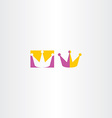 king crown icon sign vector image