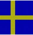 Knitted flag of Sweden vector image