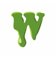 Letter W made of green slime vector image