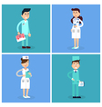 Medical Staff Nurse and Doctor Hospital vector image