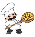 pizza chef vector image
