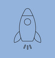 rocket line icon vector image