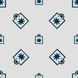 shopping bag icon sign Seamless pattern with vector image