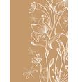 floral ink card vector image