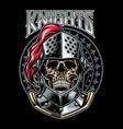 skull of knight warrior vector image vector image