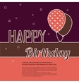 Birthday wish with balloons and text vector image