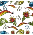 Seamless abstract floral pattern 4 vector image vector image