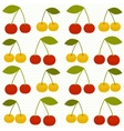 Background with cherries vector image vector image
