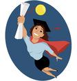 Female college graduate vector image vector image