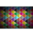 Abstract background colored triangle vector image