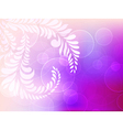 abstract background with circles and floral vector image vector image