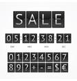 Counter Seasonal Sale Concept vector image