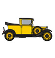 Vintage yellow car vector image
