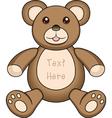 Bear doll vector image