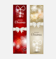 Christmas Snowflakes Website Header and Banner Set vector image