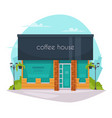 coffee house front flat icon vector image