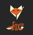 fox logo 9 vector image