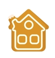 Gingerbread House icon Isolated on white vector image