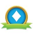 Gold diamonds card logo vector image
