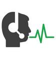 operator speech signal flat icon vector image