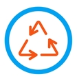 Recycle Arrows Rounded Icon vector image