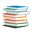 stack books or magazines vector image