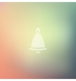 christmas bell icon on blurred background vector image