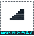 Wall icon flat vector image