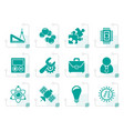stylized science and research icons vector image vector image