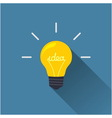 Creative idea in light bulb shape vector image