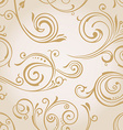 Seamless curves wallpaper Vintage background vector image vector image