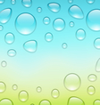 water abstract background with drops place for vector image vector image