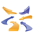 3d arrows vector image